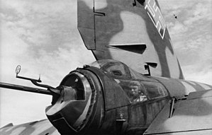 Heinkel He 177 - He 177 A-5 tail gun position, with MG 151 cannon and bulged upper glazing for upright gunner's seating