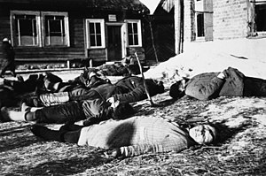 World War II casualties of the Soviet Union - Dead Soviet civilians near Minsk, Belarus, 1943