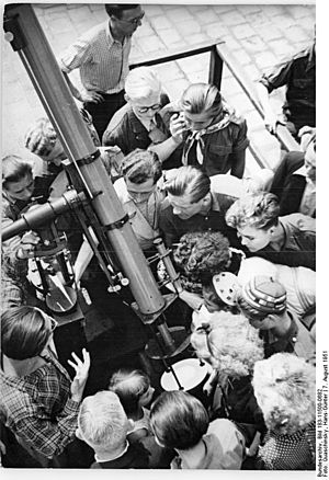 Archenhold Observatory - Participants of the IIIrd World Festival of Youth and Students visit the Archenhold Observatory in August 1951