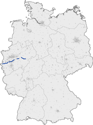 Bundesautobahn 46 - Image: Bundesautobahn 46 map