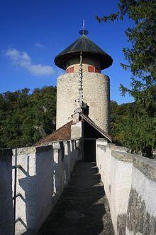 Birseck Castle, battlements