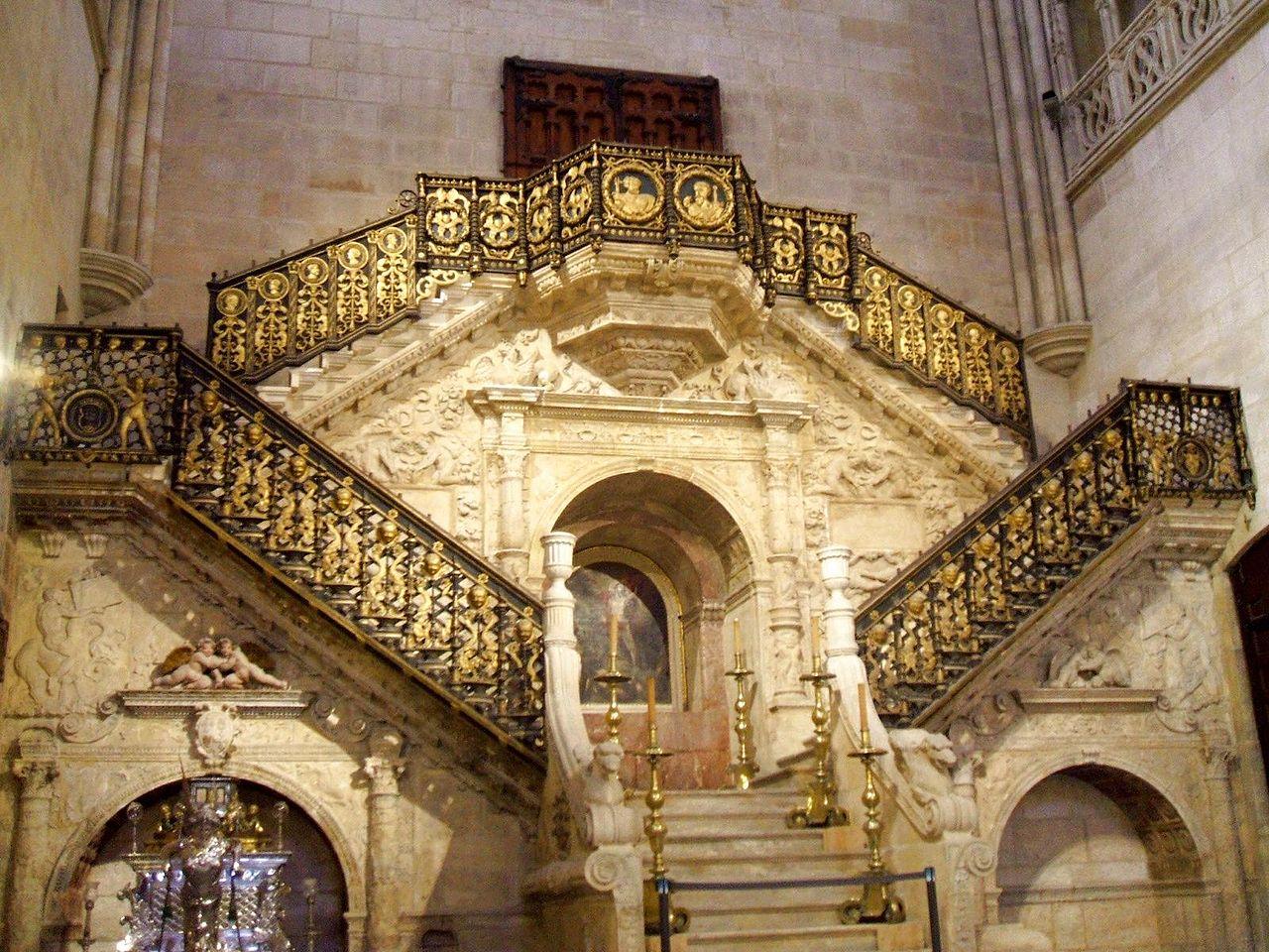 Escalera dorada de la catedral de Burgos, de Diego de Siloé