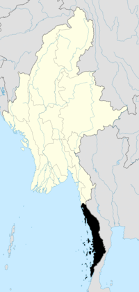 Location of Tanintharyi Region in Burma