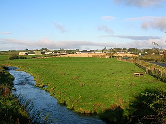 Burnhouse - The village from near the Lugton Water.