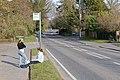 Bus stop on Mortimers Lane, Fair Oak - geograph.org.uk - 1183088.jpg