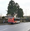 Bus timing point, Newport Road, Llantarnam - geograph.org.uk - 1999887.jpg