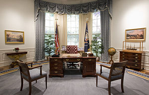 C&O desk - Replica Oval Office at the George Bush Presidential Library.