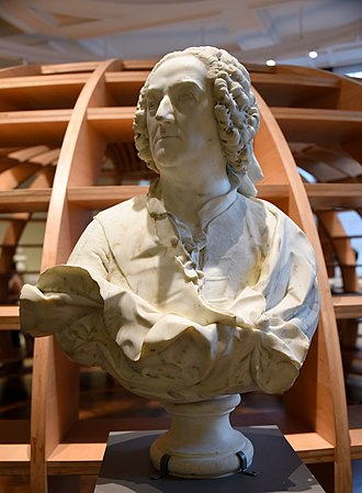 René-Michel Slodtz - Bust of Jean-Francois de Troy, circa 1740-1745 CE. From Italy. Probably by Rene Michel (called Michel-Ange) Slodtz. The Victoria and Albert Museum, London