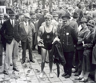 Buster Crabbe - Buster Crabbe at age 20 at the 1928 Olympics in Amsterdam