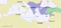 Byzantium1170lightpurple + seljuks.PNG