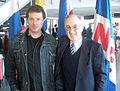 CNF - Día del Patrimonio - Gonzalo Vázquez con el escritor gardeliano Hugo Indart.jpg