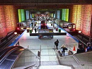 O'Hare station - Image: CTA O'Hare Blue Line Station