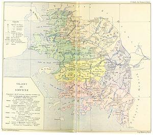 Aidin Vilayet - Image: CUINET(1894) 3.348 Smyrne Vilayet