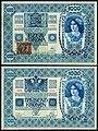CZE-5-Republika Ceskoslovenska-1000 Korun (1919, Provisional issue).jpg