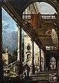 Ca' Rezzonico - Prospettiva con portico - Giuseppe Moretti.jpg