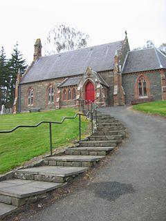 Caddonfoot village in the United Kingdom