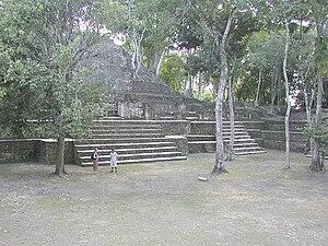 Cahal Pech - Image: Cahal Pech Belize main courtyard 1