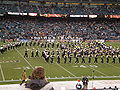 Cal Band performing pregame at 2008 Emerald Bowl 14.JPG