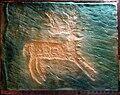 Calco gesso incisione rupestre cervo Valcamonica 1965.jpg