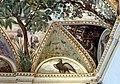 Camillo mantovano, volta della sala a fogliami di palazzo grimani, 1560-65 ca., lunette con grottesche e rebus allusivi al processo per eresia di giovanni grimani 14 aquila.jpg