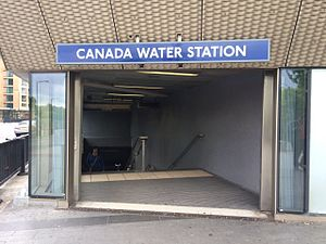 Surrey Quays - Entrance to the Canada Water Station
