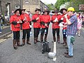 Canadian Mounted Police in Uppermill - geograph.org.uk - 806272.jpg