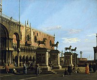 Canaletto (Venice 1697-Venice 1768) - Capriccio View of the Piazzetta with the Horses of San Marco - RCIN 404414 - Royal Collection.jpg