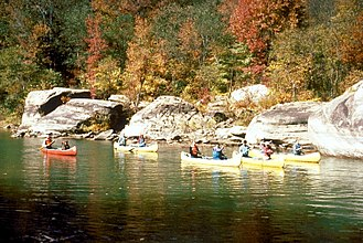 Caney Fork River - Canoeing on the upper Caney Fork