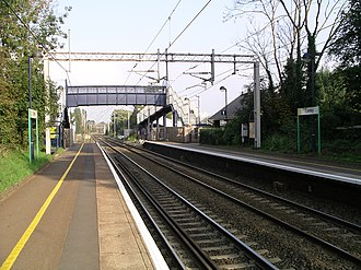 Canley railway station - View looking east