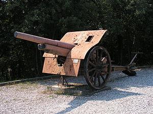 Canon de 105 mle 1913 Schneider - Cannone da 105/28.