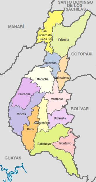 Los Ríos Province - Image: Cantones de Los Ríos