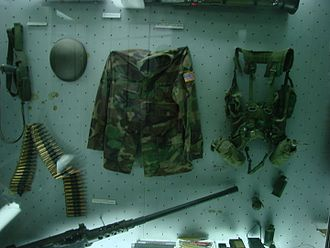 NATO bombing of Yugoslavia - Equipment from a captured U.S. Army peacekeeping patrol, on display at the Military Museum in Belgrade