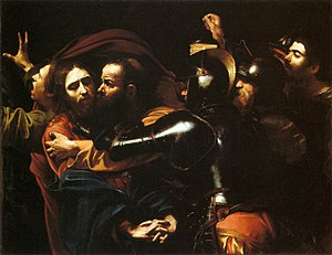 The Taking of Christ (Caravaggio) - Image: Caravaggio Taking of Christ Dublin