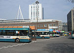 Cardiff Bus and Stagecoach buses in Cardiff Bus Station 14 April 2007.jpg