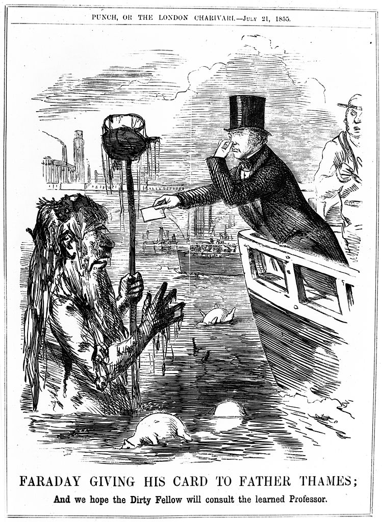 File Caricature Faraday Giving His Card To Father Thames