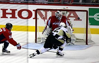 Carl Hagelin - Hagelin scores on Braden Holtby of the Capitals during the 2016 Stanley Cup playoffs.