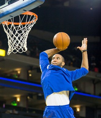 Carlon Brown - Brown warms up before a Golden State Warriors preseason game in October 2012.