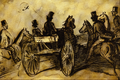 Carriage and Three Gentlemen on... - Constantin Guys.png