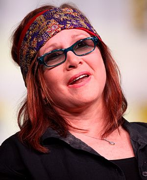Carrie Fisher - Fisher speaking at the 2012 San Diego Comic-Con International