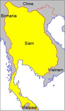 Thailand-Ayutthaya Kingdom-Carte royaume de Siam