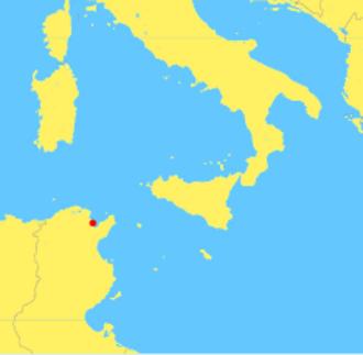 Praetorian prefecture of Africa - Image: Carthage location