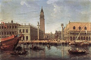 Caspar van Wittel - View of the Piazzetta from St Mark's Basin