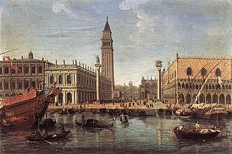 Caspar van Wittel - View of the Piazzetta from St Mark's Basin