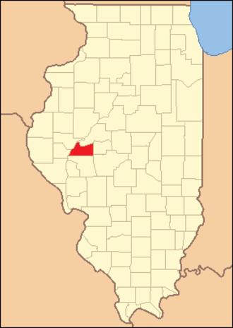 Cass County, Illinois - Image: Cass County Illinois 1845