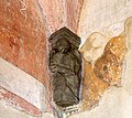 Castiglione olona, palazzo branda, interno, cappella di san martino, peducci di maestro caronese, del 1420 ca. 02.jpg