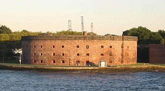 Castle Williams - View from the Staten Island Ferry on New York Harbor