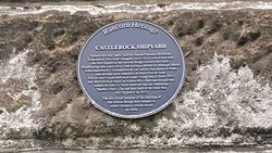 Photo of Aethelflaed and Castlerock Shipyard blue plaque