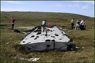 Yell, Shetland - Wreckage from the Catalina crash