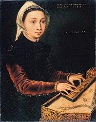 Catharina van Hemessen: Young woman playing a virginal