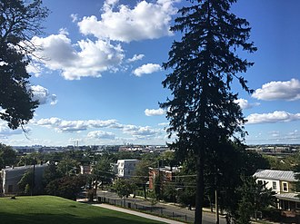 Frederick Douglass National Historic Site - The view of Washington, DC taken from the 2nd floor bay window. September, 2017